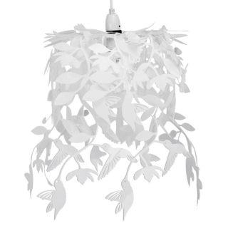 Lief en Klein lamp vogeltjes wit