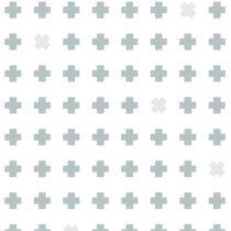 Bibelotte wallpaper behang cross blauw