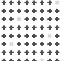 Bibelotte wallpaper behang cross grijs antraciet