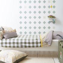 Bibelotte wallpaper behang cross groen