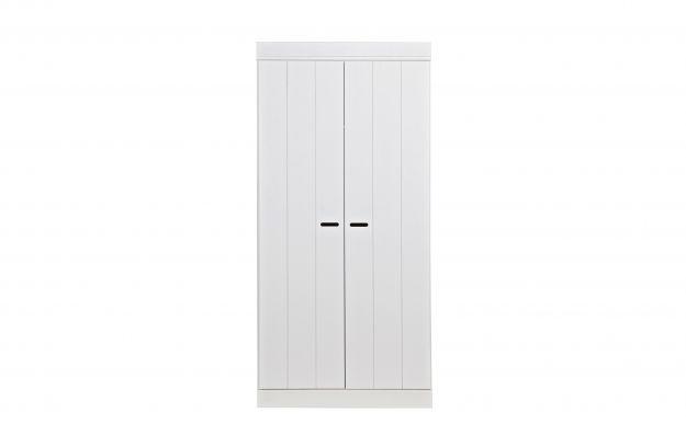 Woood kast connect deurs stroken wit lief en klein