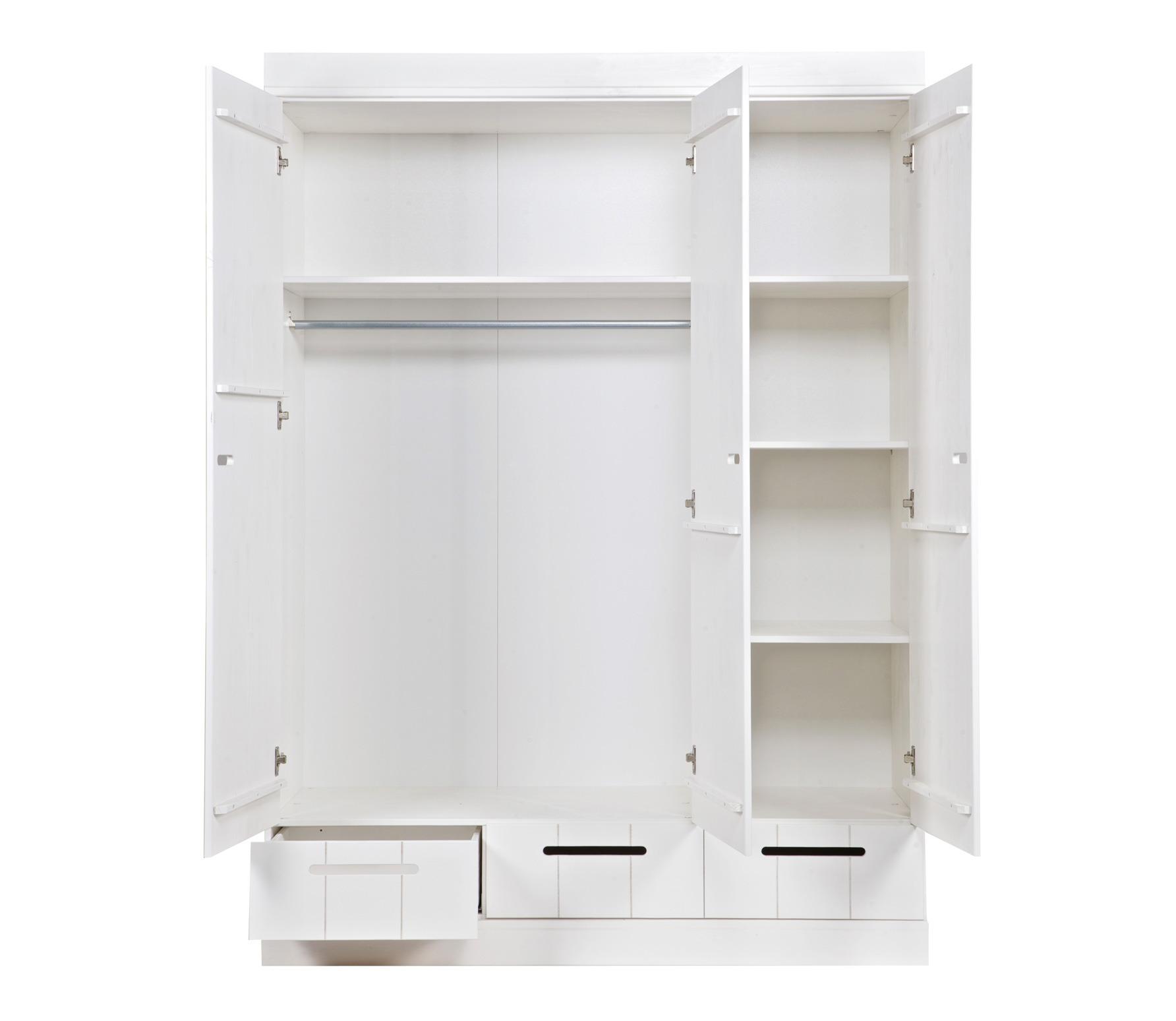 Witte Kast Met Lades.Woood Kast Connect 3 Deurs Locker Wit Met 3 Lades Lief En Klein