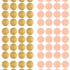 POM muurstickers Confetti stip roze goud 2