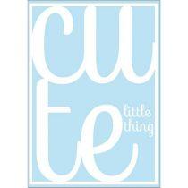 Sparking Paper postkaart Cute little thing blauw