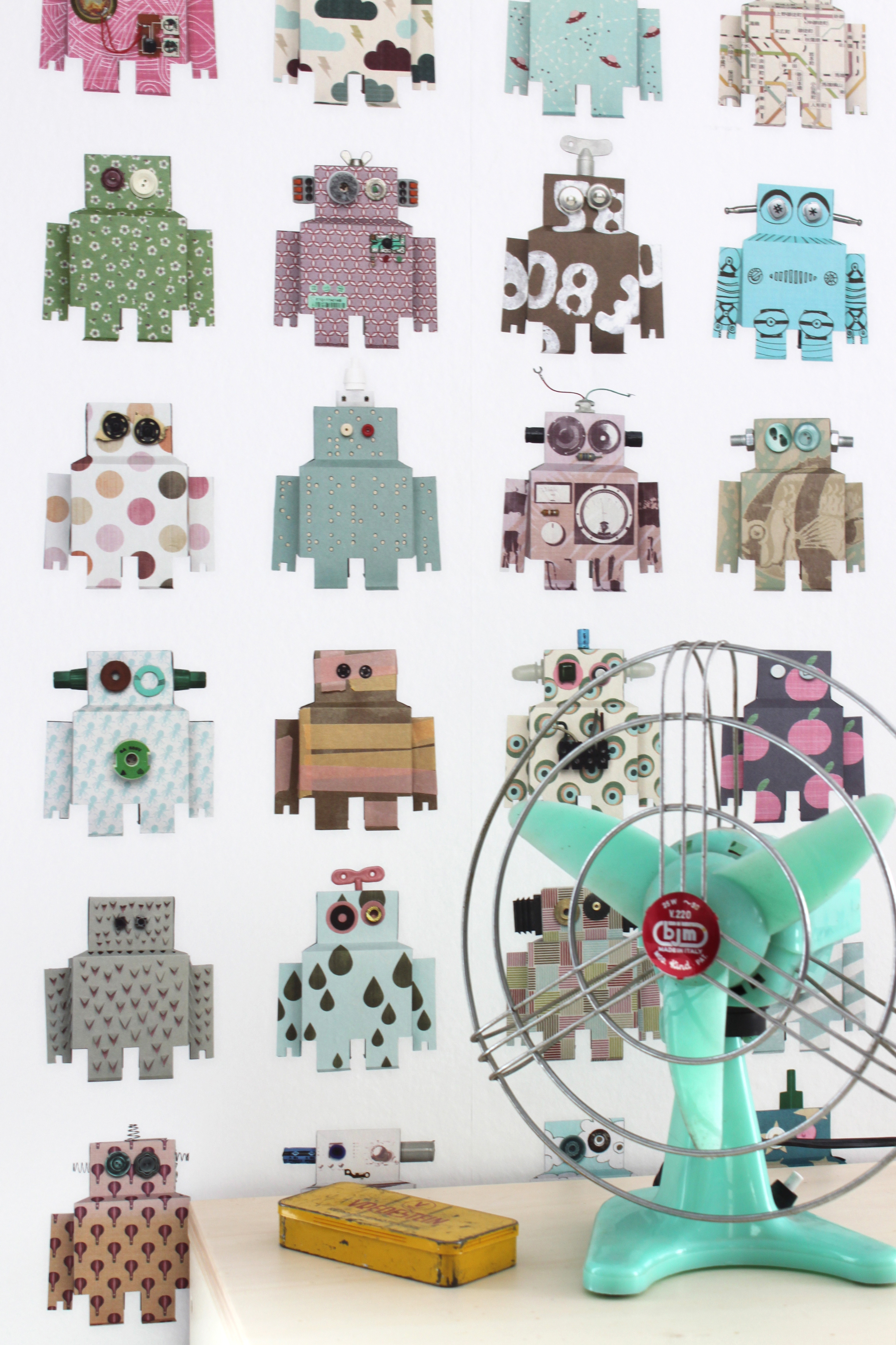 Lief Behang Jongen.Studio Ditte Behang Robot Lief En Klein