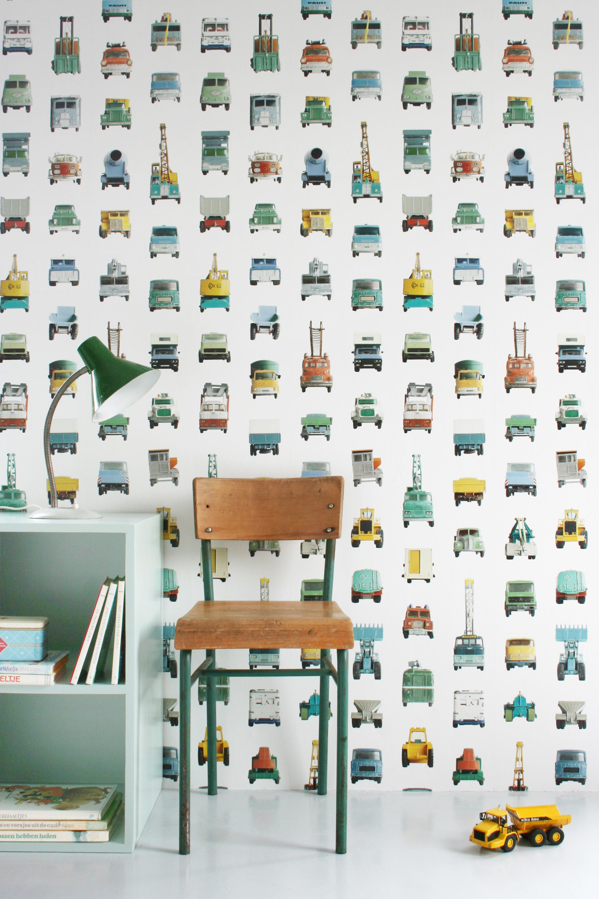 Work vehicles wallpaper 02 - Studio Ditte Behang