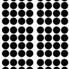 Pom muurstickers Confetti stip zwart