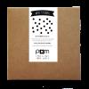 Pom muurstickers Confetti stip zwart 2