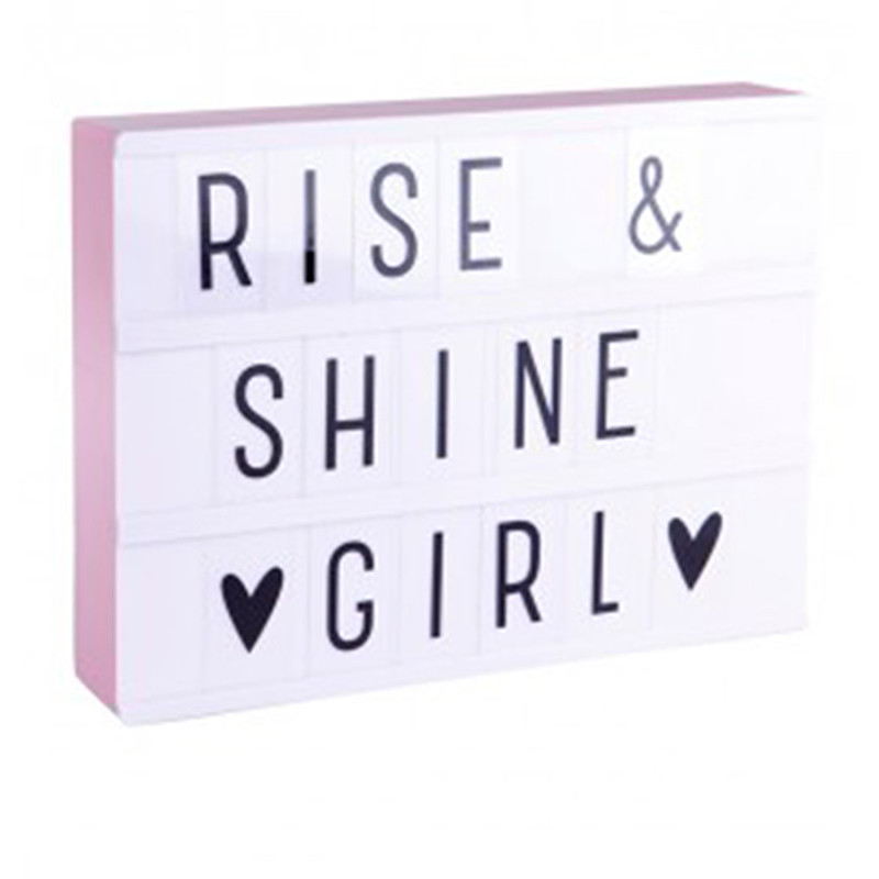 Foto A Little Lovely Company lightbox A4 roze