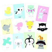 A Little Lovely Company kaartenset animals 2