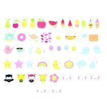 A Little Lovely Company lightbox Kawaii symbolen set
