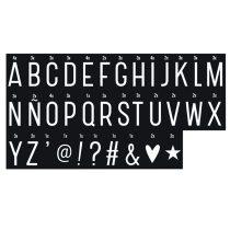 A Little Lovely Company lightbox Monochrome symbolen set