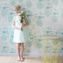Roomblush behang Ananas groen 1
