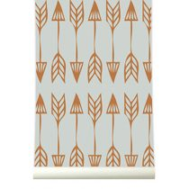 Roomblush behang Arrows grijs koper