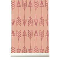 Roomblush behang Arrows marsala