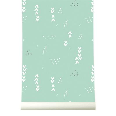 Pastel Groen Behang.Roomblush Behang Floral Pastelgroen Lief En Klein