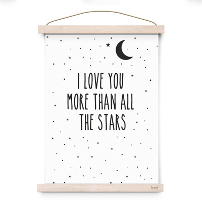 Eef Lillemor poster A3 All the stars