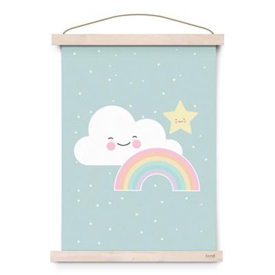 Foto Eef Lillemor poster A3 Rainbow