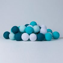 Cotton Ball Lights Aqua blauw