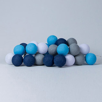 cotton ball lights sailor blue blauw 20 stuks lief en klein