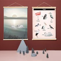 Little and Pure poster praatplaat Vogels