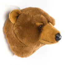 Wild en Soft dierenhoofd beer licht bruin Oliver 2