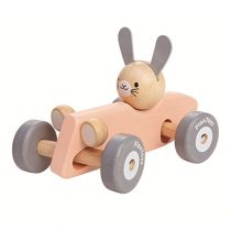 PlanToys houten auto konijn pastel
