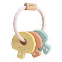 PlanToys houten sleutelbos pastel