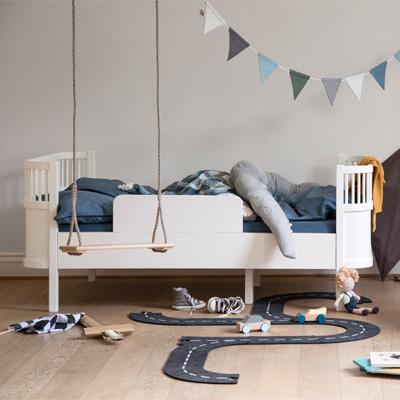 sebra kili meegroeibed junior eenpersoonsbed wit lief en klein. Black Bedroom Furniture Sets. Home Design Ideas