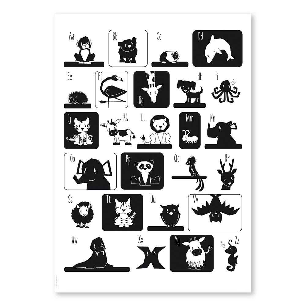studio circus poster 50x70 cm abz zwart wit. Black Bedroom Furniture Sets. Home Design Ideas