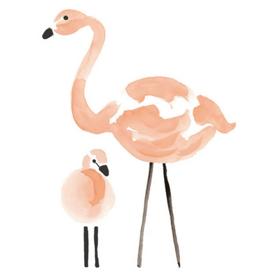 Lilipinso Flamingo muurstickers groot