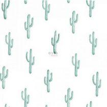 Esta home behang cactus vergrijsd turquoise