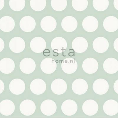 Wonderlijk Esta home behang stippen mint groen en wit - Lief en Klein EL-31