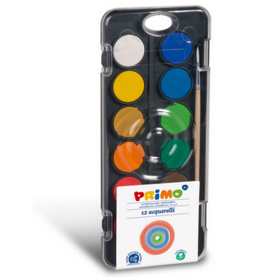 Primo aquarelverf tablet 12 kleuren 30mm