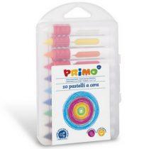 Primo box met 10 kleuren ronde waskrijtjes