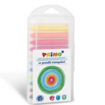 Primo box met 12 kleuren driehoek waskrijtjes