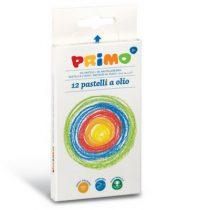 Primo box met 12 kleuren vetkrijtjes