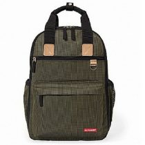 Skip Hop luiertas Duo Signature Backpack olive mini grid