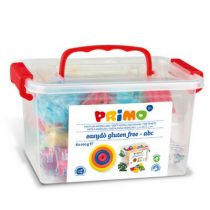 Primo schoolbox met 8 kleuren klei alfabet