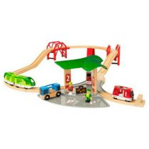 Brio houten trein set Travel Station set