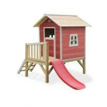 EXIT Beach 300 houten speelhuis rood