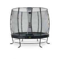 EXIT Elegant premium trampoline 253 met veiligheidsnet economy zwart