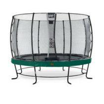 EXIT Elegant premium trampoline 366cm met veiligheidsnet economy groen