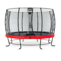 EXIT Elegant premium trampoline 427cm met veiligheidsnet economy rood