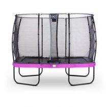 EXIT Elegant premium trampoline 214x366cm met veiligheidsnet deluxe paars