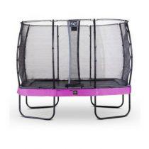 EXIT Elegant premium trampoline 214x366cm met veiligheidsnet economy paars