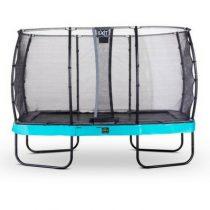 EXIT Elegant premium trampoline 244x427cm met veiligheidsnet economy blauw