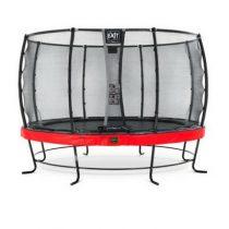 EXIT Elegant premium trampoline 427cm met veiligheidsnet deluxe rood
