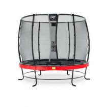 EXIT Elegant trampoline 253cm met veiligheidsnet Deluxe rood