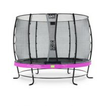 EXIT Elegant trampoline 305cm met veiligheidsnet economy paars